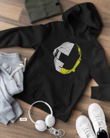 Daft Punk Capota Y Cuello Redondo